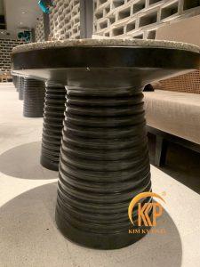 bàn composite mặt đá terrazoo