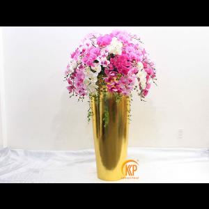 fiberglass pot and artificial flower 00010